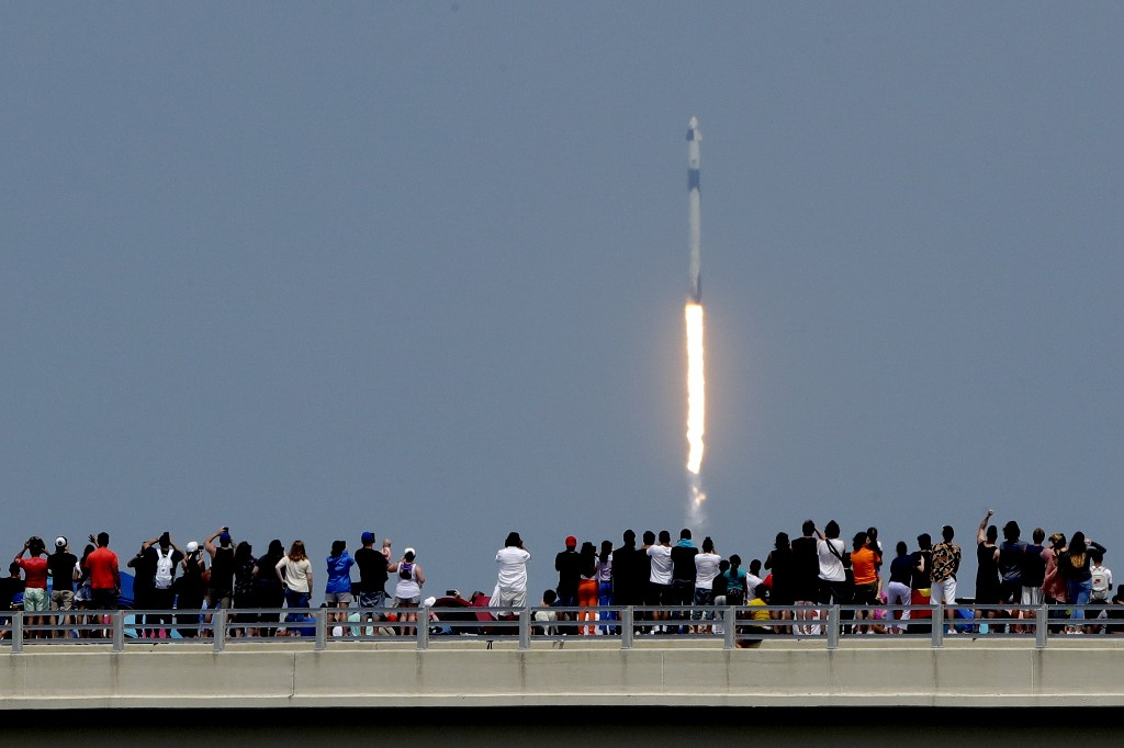 Launch gives spectators pride, reprieve from troubled times