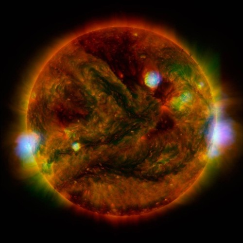 Scientists have taken a high energy x-ray of the sun and the results are stunning