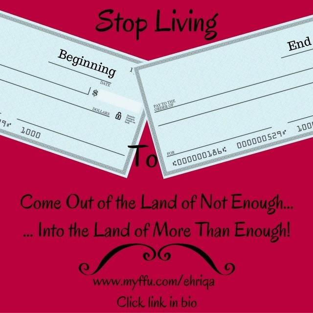 Stop Living Paycheck to Paycheck www.myffu.com/ehriqa