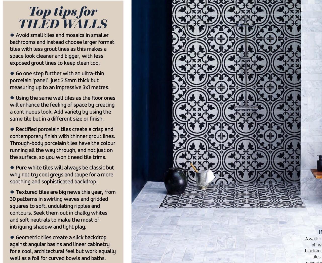 Tips for tiled walls