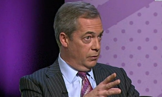 Farage confused over Ukip's sex education policy at young voters' event