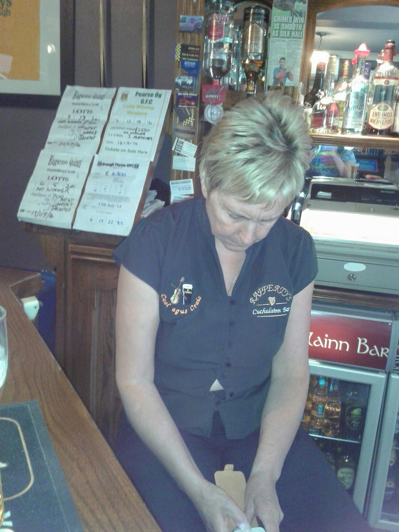 Lady mayoress of armagh hard at work lol