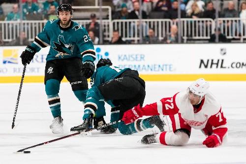 Wings send Sharks to 6th consecutive loss