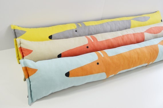Mr Fox Retro vintage Draught Excluder - All colours listed