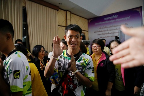 Rescued Thai Soccer Team Goes Home: Pictures