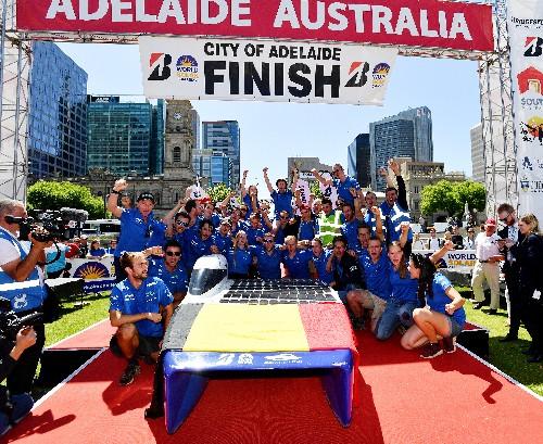 Belgian solar car team wins 3,000-km race through Australian outback