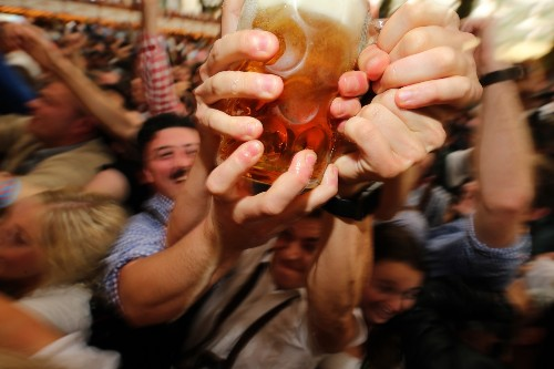 Grabbing a Beer or Two at Oktoberfest: Pictures