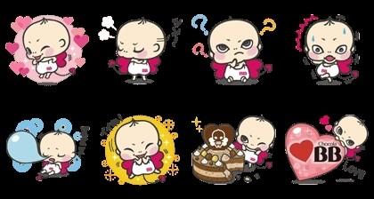 09/10(二) 日本區貼圖 - Chocola baby Basic Edition 免費(180天) line://shop/detail/1156