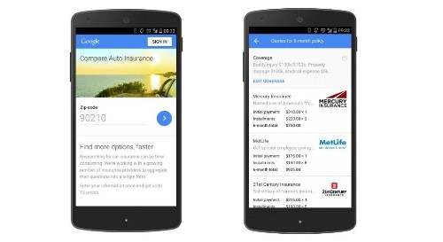 Google Launches A New Tool To Sell Car Insurance To U.S Web Searchers