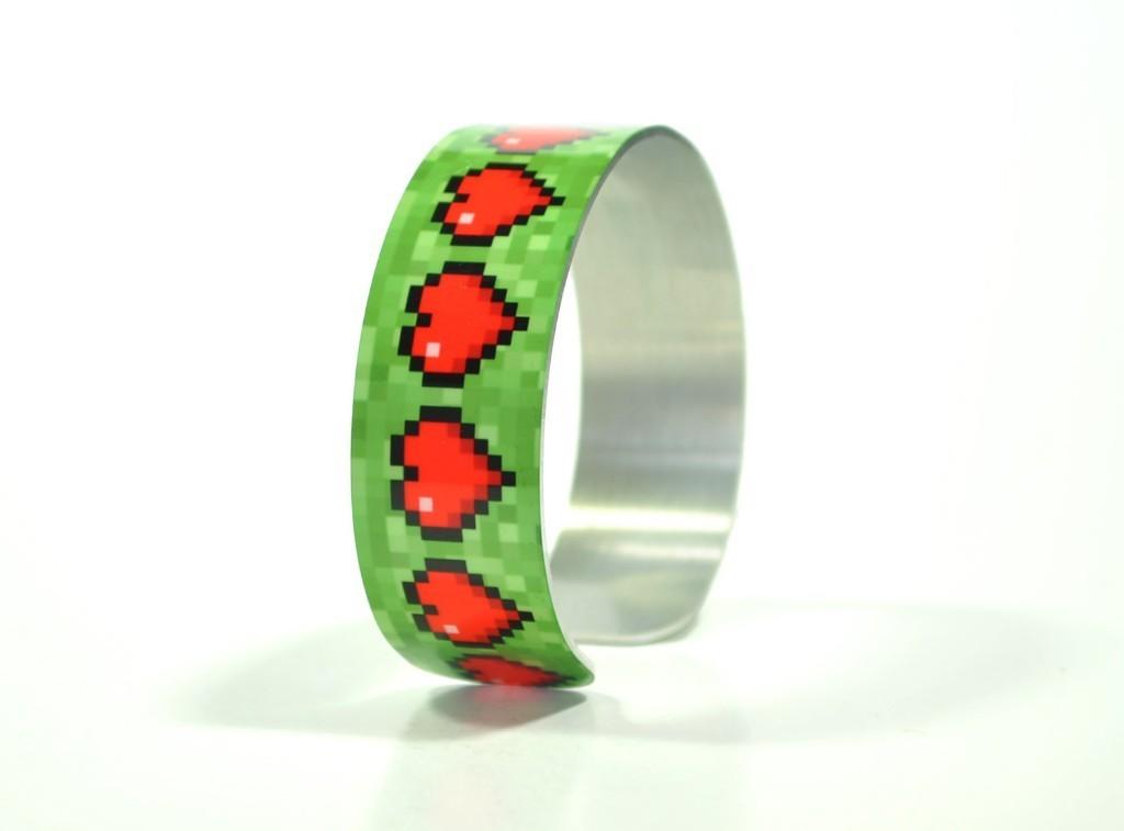 Items similar to Geek Valentine Pixel Heart Gamer Health Bracelet on Etsy