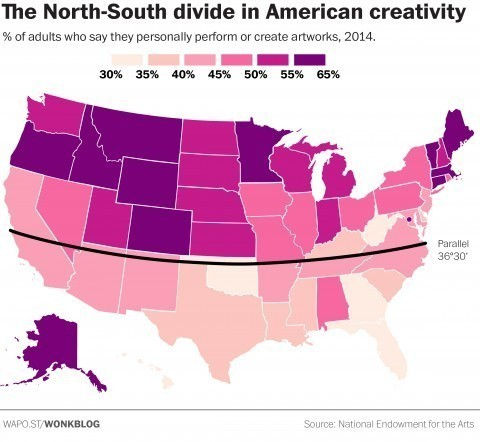 The stunning geographic divide in American creativity