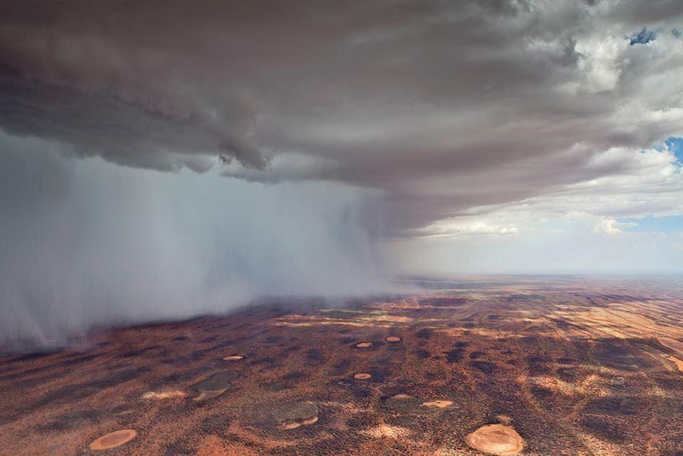 Rain over Kennedy Range, WA.