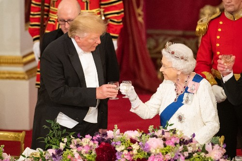 Trump Meets the Queen: Pictures