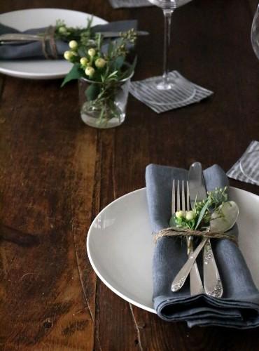 Thanksgiving Tabletop: A Study in Indigo