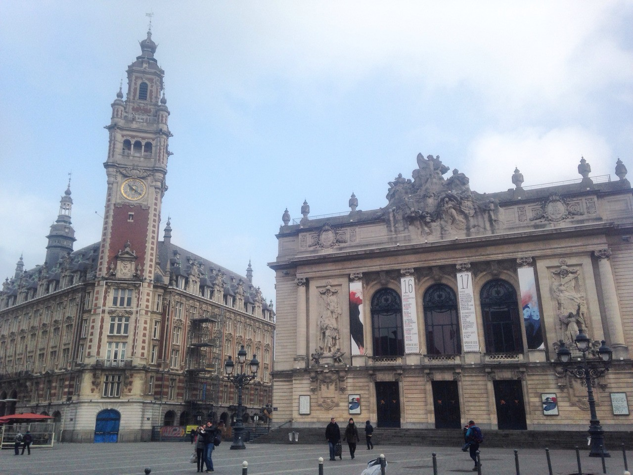 Lille, the city in the north of France. Border to Brussel and another city in Belgium. Beautiful city and huge city center square.
