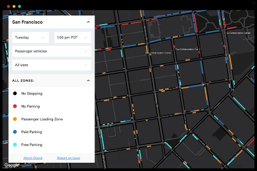 Become a parking savant with Sidewalk Labs' new curb visualization tool