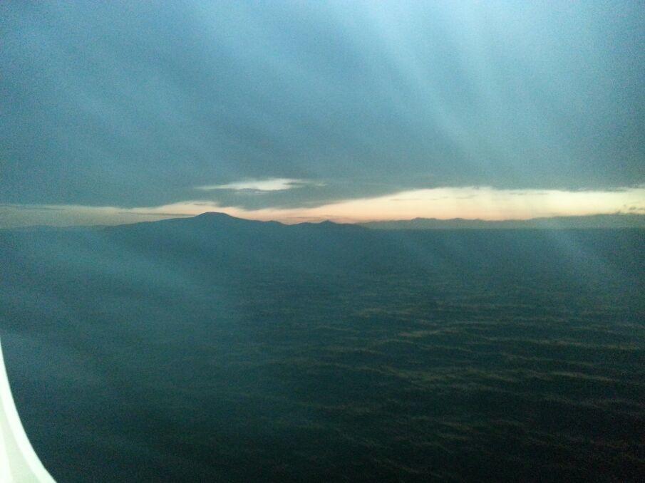 Il cielo - il tramonto - il mare.