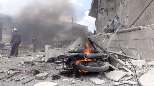Syrian air strike on village market kill at least 12: rescuers