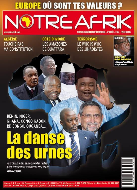 Le magazine panafricain Notre Afrik vous propose, dans sa livraison de février, un tour d'horizon des seize élections présidentielles qui se tiennent sur le continent cette année.