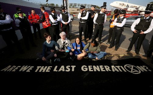 UK police warn Extinction Rebellion not to use drones at Heathrow protest