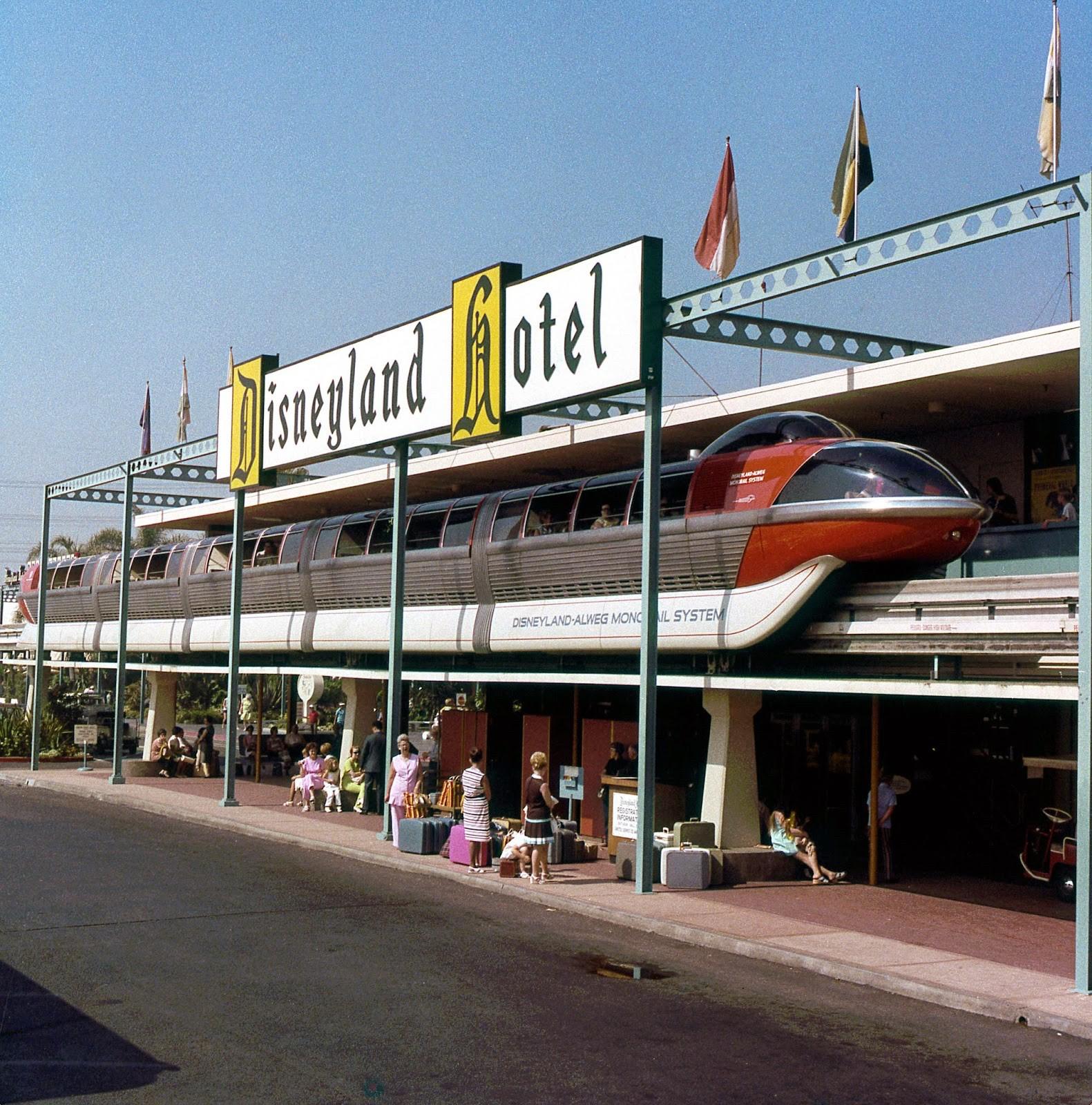 Daily Vintage Disneyland: The Disneyland Hotel Monorail Station Facebook: