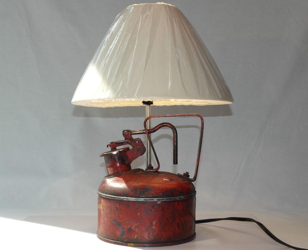 Lampara Bidon Antiguo Gasolina www.tribeca-vintage.com