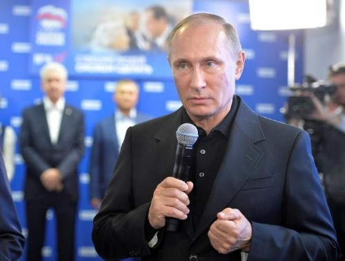 Pro-Putin party on track for landslide win in Russian election