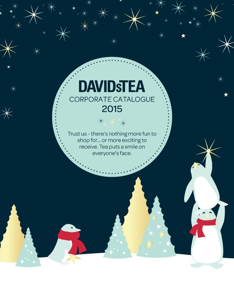 DAVIDsTEA Corporate Orders - Holiday 2015 - Magazine cover
