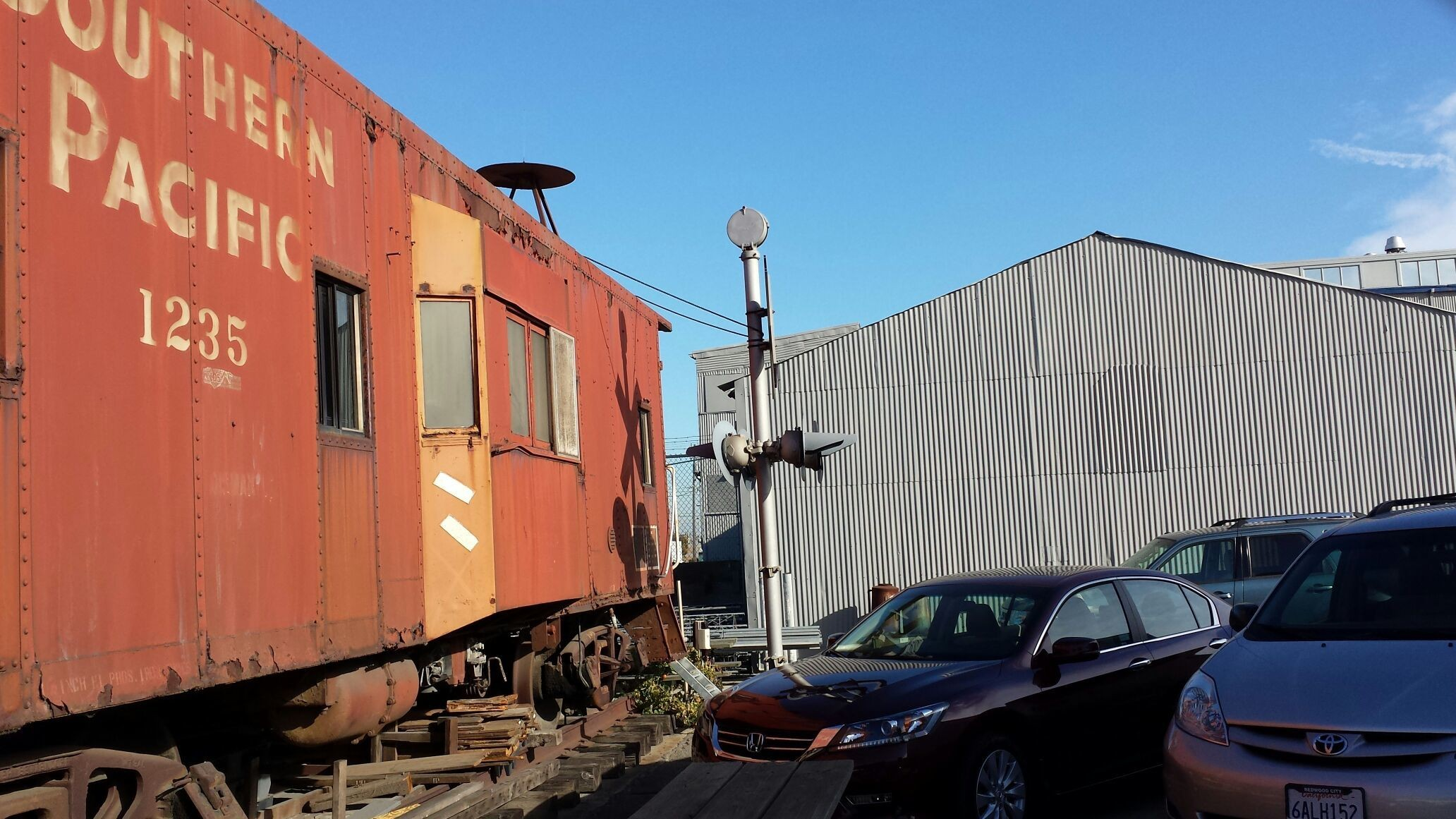 Vanishing San Francisco...an old Southern Pacific caboose out to pasture in the Dogpatch.