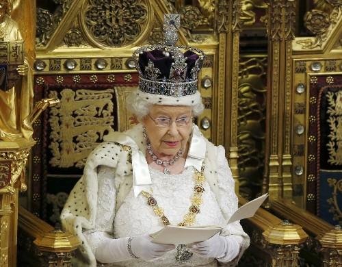 Queen Elizabeth Opens Parliament in London