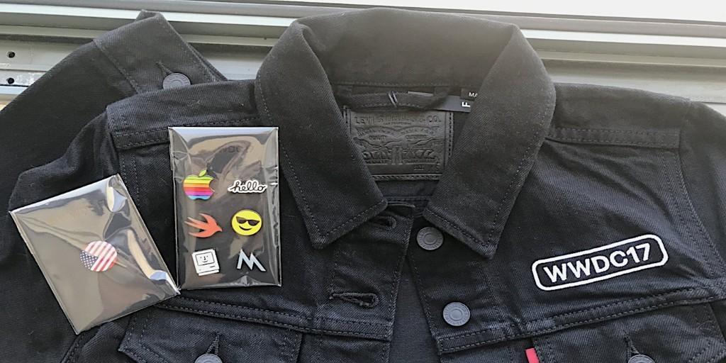 Apple gifts WWDC '17 attendees custom Levi's jackets, pins & Apple TV dev kits