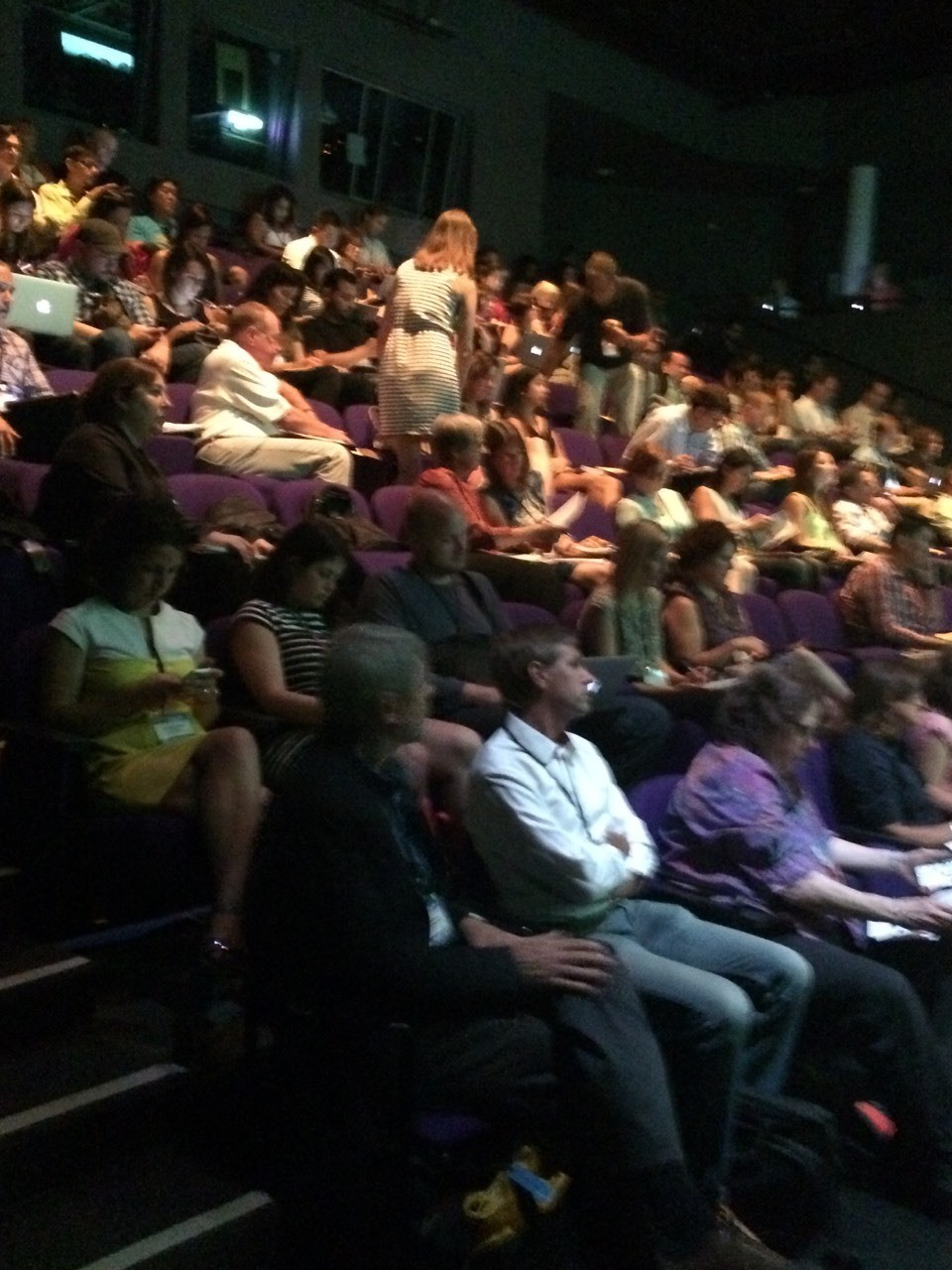 The audience getting settled