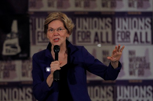 Democrat Warren vows to use 'every tool' to combat white nationalist violence