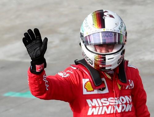 Vettel enjoys sly dig at Verstappen's 'suspicious' speed