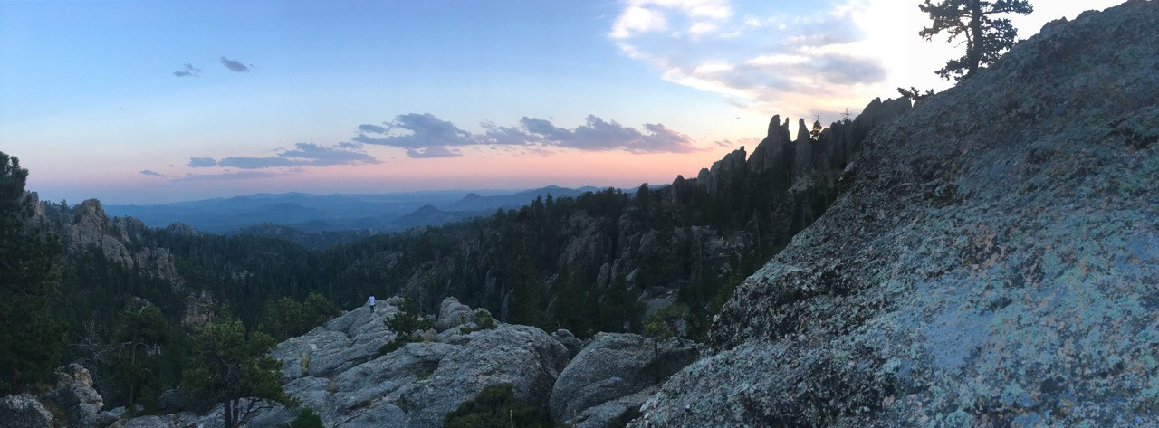 Went to the black hills right before school started. Hiked a whole bunch, I was a lot of fun.