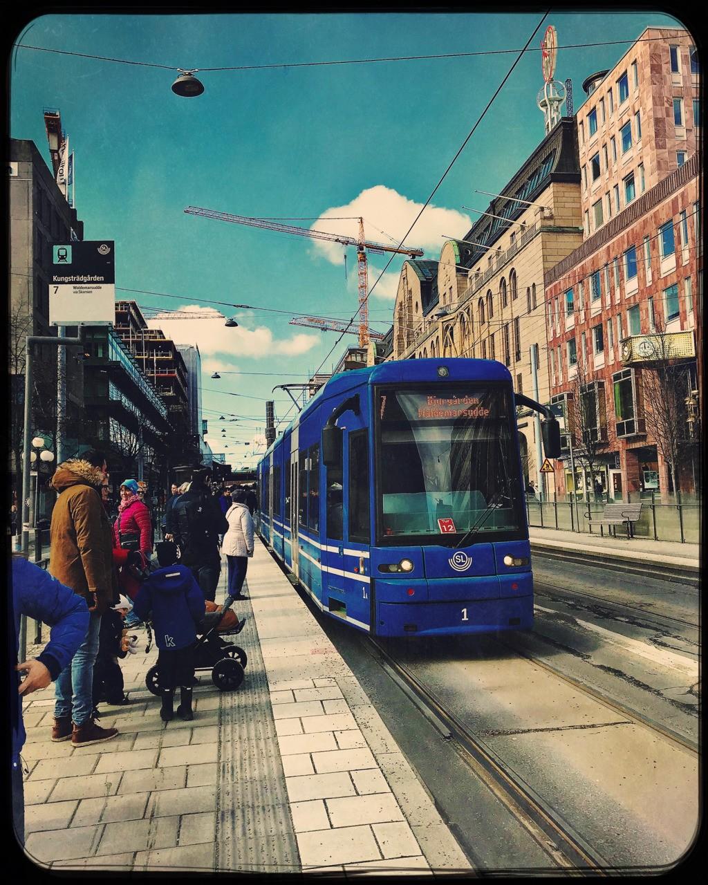 Tram arriving #stockholm #hipstamatic