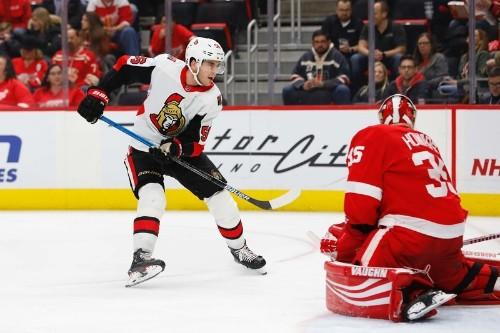 Senators stop Wings to end losing streak