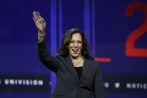 The Latest: United Farm Workers backs Harris for nomination