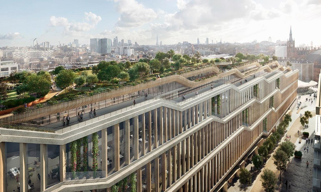 Google submits plans for 1m sq ft 'landscraper' London headquarters