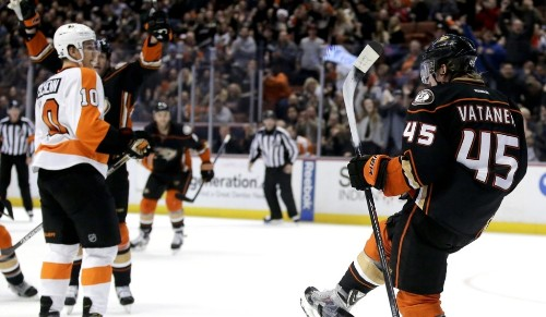 Ducks beat Philadelphia shootout, 5-4, after late lead gets away