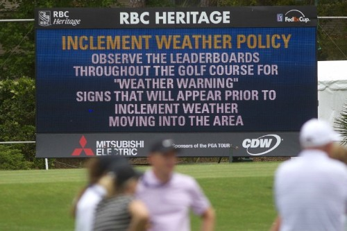 Lowry leads by one as darkness halts play at RBC Heritage