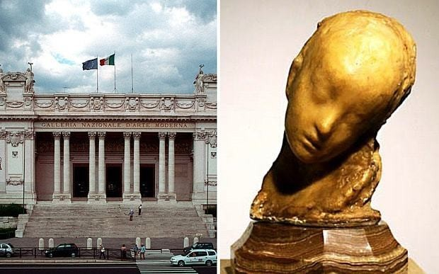 Thief walks out with €500,000 sculpture from Italy's national modern art museum