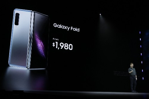 Samsung folding phone is different - but also almost $2,000