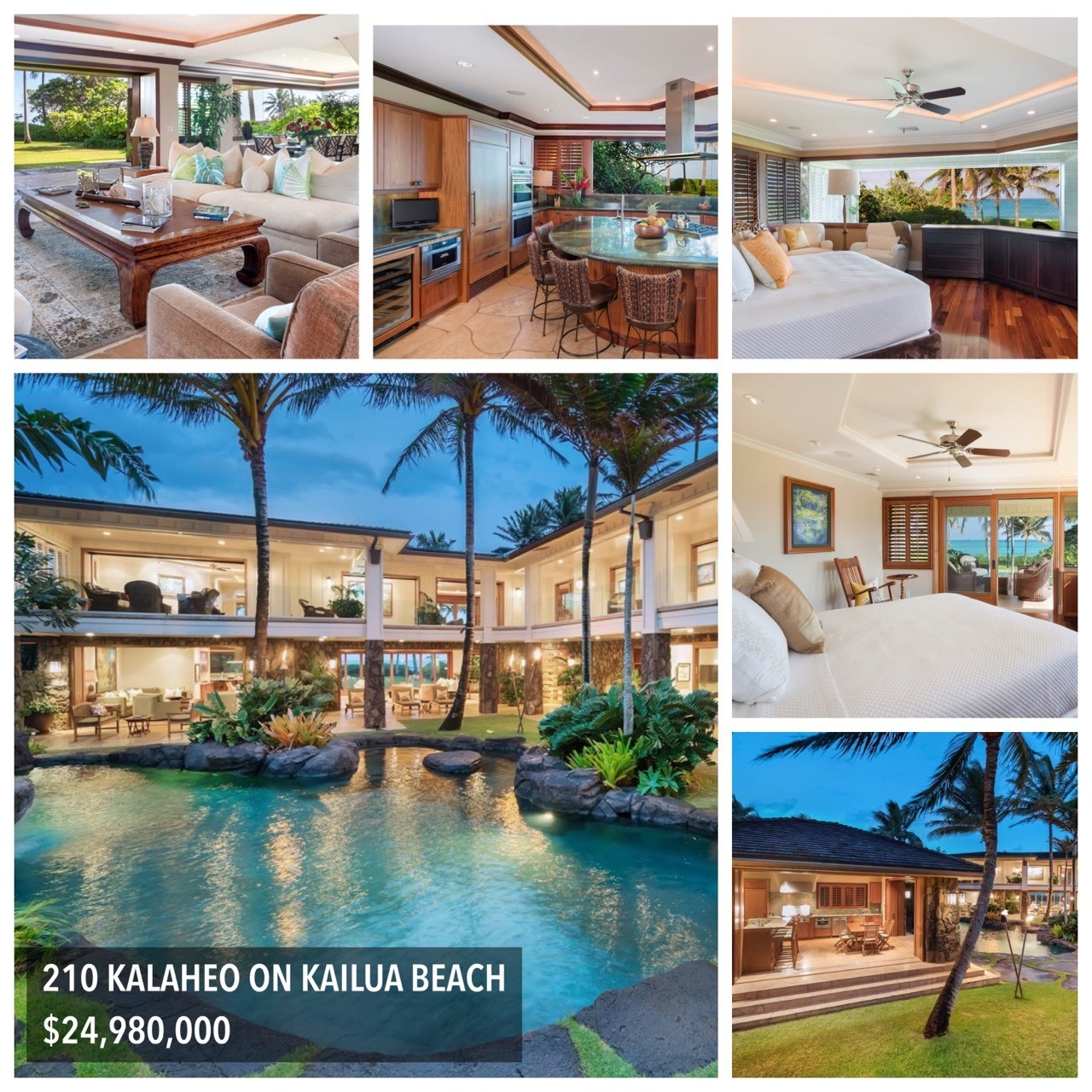 Click here for more 210 KALAHEO ON KAILUA BEACH $24,980,000 AMERICAN DOLLARCHANGE CURRENCY