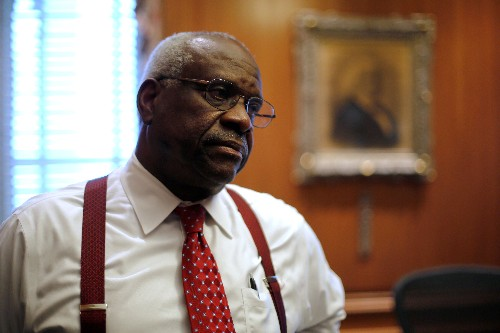 Justice Thomas speaks as U.S. top court confronts racial bias in jury selection