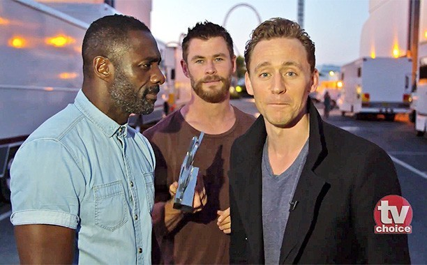 Chris Hemsworth, Idris Elba crash Tom Hiddleston's TV Choice Award acceptance speech in hilarious video