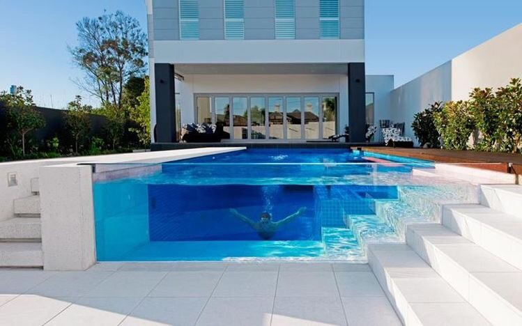Posh pools: see through pool