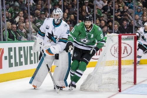 Shore's two goals lift Stars past Sharks