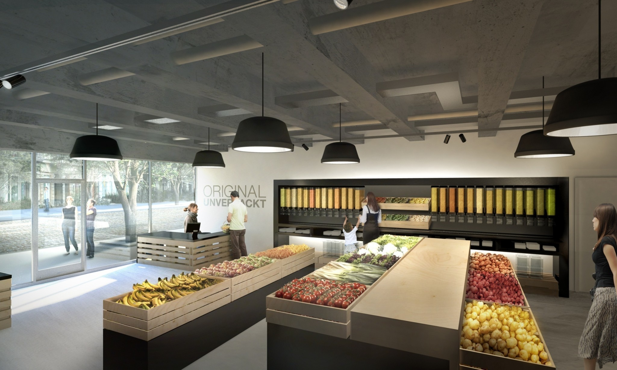 Berlin duo launch a supermarket with no packaging