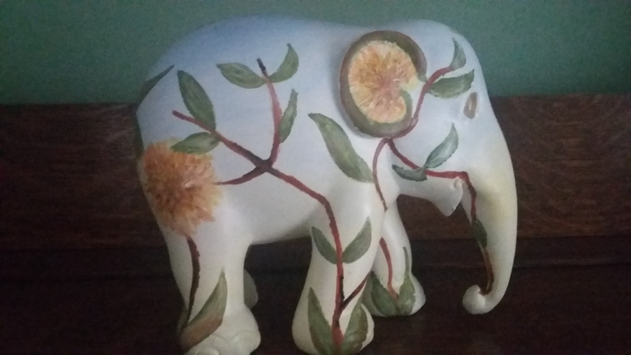 Inspired by the London elephant parade, I painted my own...